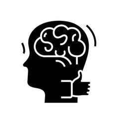 Intellect choise black icon concept vector