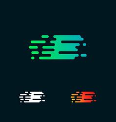 letter e modern speed shapes logo design vector image