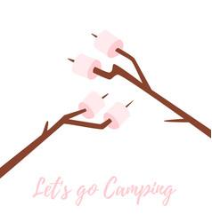 marshmallows on stick vector image