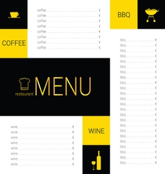 menu restaurant color vector image