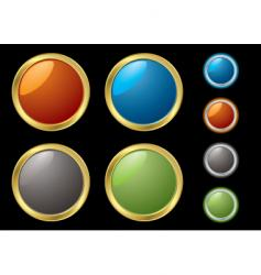 metal rim buttons vector image