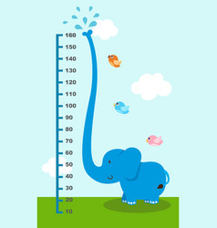 Meter wall with elephant vector