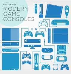 Modern Game Consoles vector image
