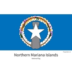 National flag of Northern Mariana Islands with vector