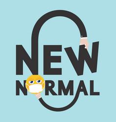 New normal font design typography vector