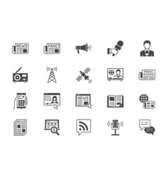 news flat icons included icon vector image