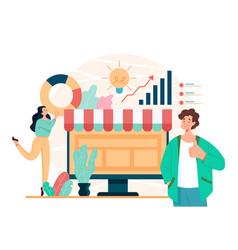 online web internet business development trading vector image