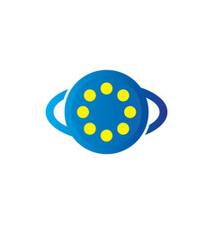 optic eye clinic logo vector image
