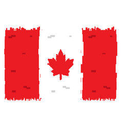 pixelated flag of canada vector image