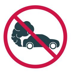 Prohibiting hazardous exhaust gas sign car icon vector