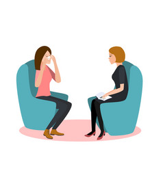 psychotherapy session woman vector image