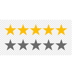 Rating stars 5 rate review web ranking star vector