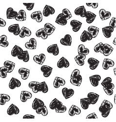 Romantic backdrop with hearts vector