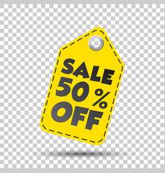 sale 50 off hang tag vector image