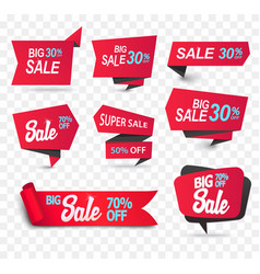sale shop product tag label or sale poster vector image