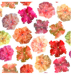 Seamless hibiscus background vector