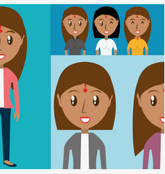 set avatars women of different diversity vector image