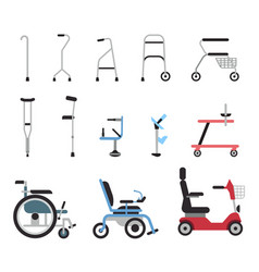 set of icons that represent orthopedic equipment vector image