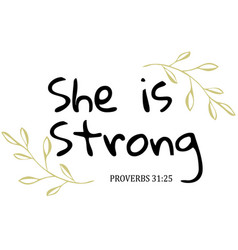 she is strong vector image