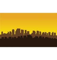 Silhouette of city parraler vector