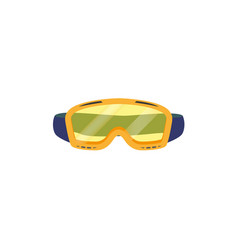 snowboarding goggles flat icon isolated vector image