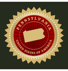 Star label Pennsylvania vector