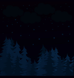 Starry night vector
