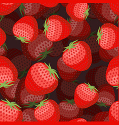 Strawberry pattern 3d red berry texture sweet vector