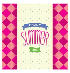 Summer postcard template design vector image