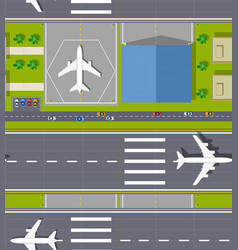 top view seamless airport vector image