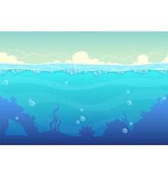 Underwater seamless landscape vector image