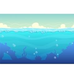 Underwater seamless landscape vector