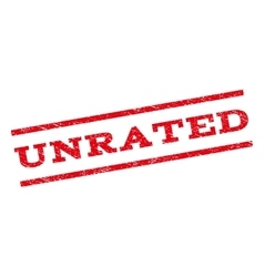 Unrated Watermark Stamp vector image