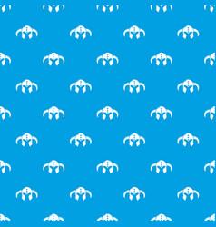 Viking helmet classic pattern seamless blue vector