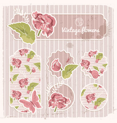 vintage banners and stickers collection vector image