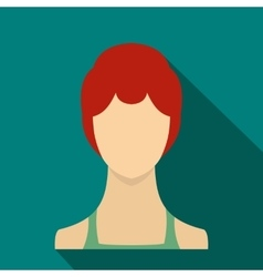 Woman icon flat style vector