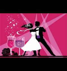 ballroom dancers vector image vector image
