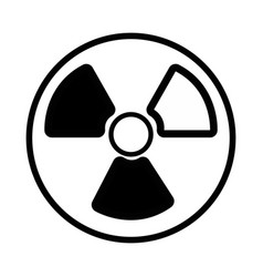 contour radiation symbol to dangerous and ecology vector image