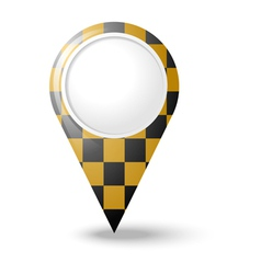 Round 3D map pointers vector image vector image