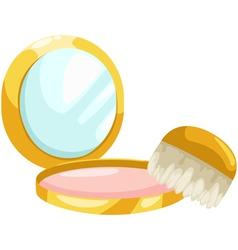 Cosmetic Powder vector image vector image