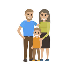 married couple in casual cloth and little son vector image vector image