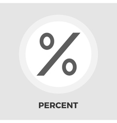 Percent sign flat icon vector