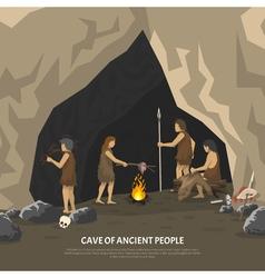 Prehistoric Cave vector image