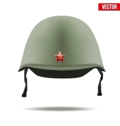 Russion Military classic helmet vector image