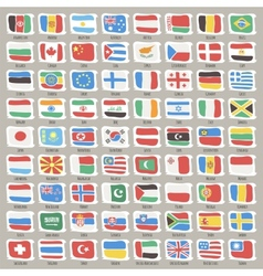 Set of World States Flags vector image