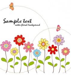 spring summer floral wallpaper vector image
