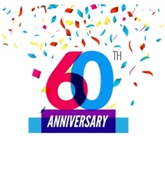 Anniversary design 60th icon anniversary vector image vector image