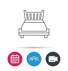 Double bed icon Sleep symbol vector image vector image