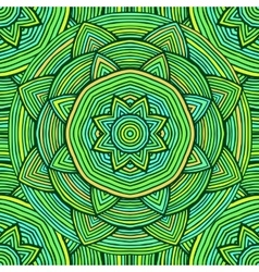 Green Ethnic Pattern vector image