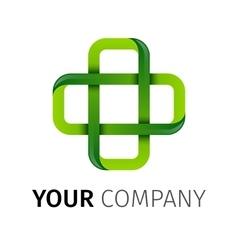 Pharmacy Green cross logo vector image
